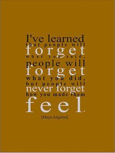 So true...  who is it that you will never forget?