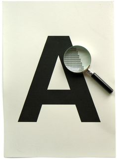 A    What makes up the letter A?…a lot of little a's.    (Source: fullstopcommawhite)