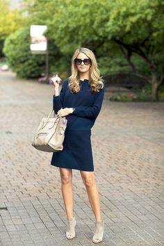 Vince dress, Vince shoes, Celine bag (similar Marc Jacobs bag), Prada sunglasses, Gorjana bracelet c/o, Michele watch, Essie nail polish (Blanc)
