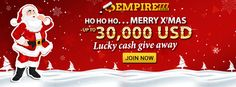 represented you the best online casino promotion at the end of this year! During 23 Dec 2015 to 3 Jan we will randomly give away up to USD cash for 5 lucky players by daily! Best Online Casino, Best Casino, Casino Promotion, Christmas, Xmas, Navidad, Noel, Natal, Kerst