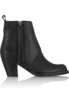 Acne Studios The Pistol leather ankle boots | NET-A-PORTER