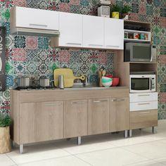 Quer inspiração de como decorar a sua cozinha utilizando as cores? Olha só este modelo que lindo! ❤️    #decoração #design #madeiramadeira