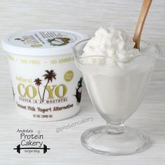 Coconut Frozen Protein Yogurt - Andréa's Protein Cakery