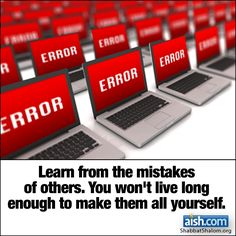 Jewish Quote of the Day: Learn From The Mistakes