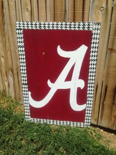 Alabama Crimson Tide Decor, Roll Tide Roll, Hand Painted University of Alabama Decor, Houndstooth, Sweet Home Alabama, Alabama State