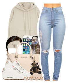 """""""Gangsta Gangsta"""" by trapanese-kids ❤ liked on Polyvore featuring MICHAEL Michael Kors, NIKE, Burberry and Maison Margiela"""