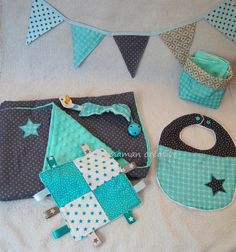 """Coffret cadeau naissance bébé """"étoile bleue"""""""
