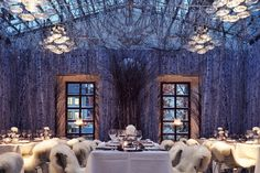 Atrium dining room at the Widder Hotel in Zürich, Switzerland