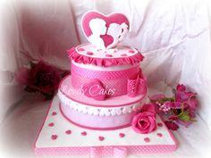cute valentines day cake