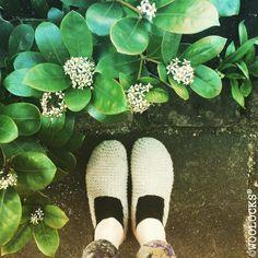 It's definitely a spring time now ❤️☀️❤️ WOOLLEN SLIPPERS-ORIGINAL WOOLOCKS® FOOTWEAR | Woolocks.   #woolocks #woolsocks #woolen #woollen #slippers #slippersocks #handmade #natural #footwear #organic #organic #feet #feets #happy #spring #liverpool #hippie #bohemian #bohemianstyle