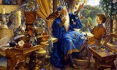 Merlin and Arthur by Scott Gustafson