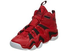 Adidas Crazy 8 Mens D68986 Scarlet Red Black Basketball Shoes Sneakers Size  9