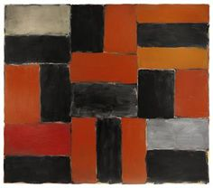 orange and grey (oil painting by Sean Scully)