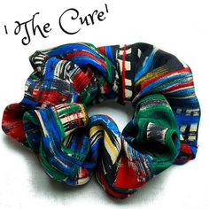 Hair Scrunchie 80s 90s Hair Tie 'The Cure' by FannyAdamsVC on Etsy