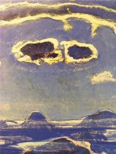 """Eiger, Monch and Jungfrau in Moonlight,"" Ferdinand Hodler, 1908"
