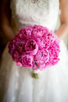 Bright Pink Peonies Bridal Bouquet