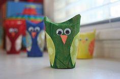 Paper tube owls...