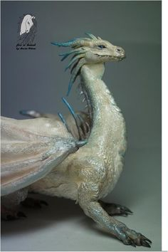 "Figurine Dragon ""Ice mountain"",the figure ""Nordic dragon"",snow dragon,dragon sculpture,dragon statuette"
