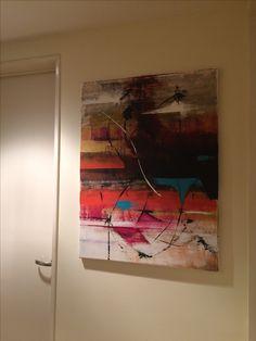 Pintura abstracta con acrílico