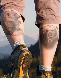 Bear tattoos on legs