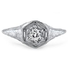 18K White Gold The Gigli Ring. early 1900s. so sweet.