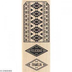 Sello de madera Etiqueta azteca - Fotografía n°1