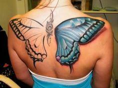 best tattoos big butterfly back tattoo - Dump A Day