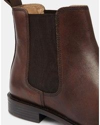 a0a8222a1aa7 Asos Brand Chelsea Boots In Leather