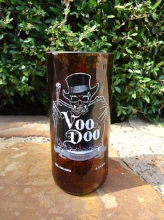 Recycled Beer Bottle Glass from a Left Coast Voodoo American Stout  Beer Bottle  $18.00