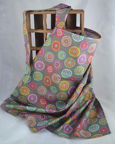 Colorful Burst Adjustable Hoop Nursing Cover Grey by TheKeenBean
