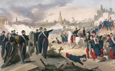 Battle in Pere Lachaise in May 1871 during the Paris Commune France 19th century