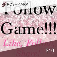New Follow Game!!!! Like, follow everyone who liked, and share to gain followers! NO CHEATING! This game only helps everyone if you actually follow people back!!! Please tag others! FG. Lilly Pulitzer Bags Totes