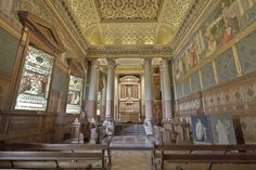 Castle Howard - The Chapel. Note the stained glass windows are open. Not sure if they are hinged or pivoting.    1280px-Castle_Howard_Chapel.jpg (1280×853)