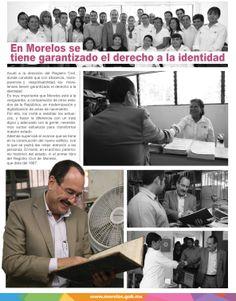 En Morelos se tiene garantizado el derecho a la identidad