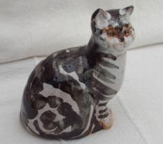 STUDIO POTTERY HAND MADE CAT FIGURE