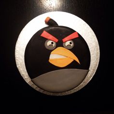 Homemade Angry Bird birthday cake