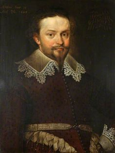 """Portrait of an Unknown Gentleman, Aged 35, with the Motto 'Humilior melior'"", Marcus Gheeraerts the younger, 1628; NT 1151364"