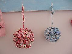 Fabric Scrap Pom Pom - fun addition to a gift for girls.