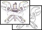wrench Tattoos, tools Tattoos, mechanic Tattoos, piston Tattoos, metal ...