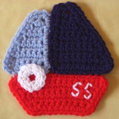 #Crochet sailboat appliqué free pattern from @crochetspot