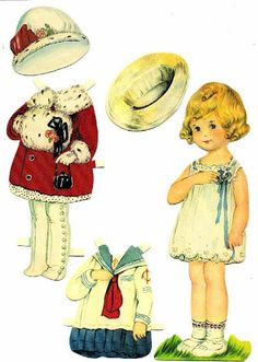 vintage paper doll dolly
