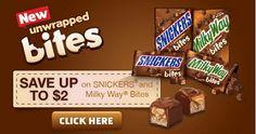 Apúrate Imprime tu cupón de SNICKERS y Milky Way Bites de valor de $2 antes que se agote #GameDayBites - Súper Baratísimo o Gratis