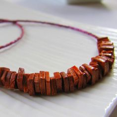 Caramel Ceramic Necklace by earlybirdcreations on Etsy, $24.00