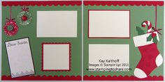 Stamping to Share: 11/2 Stampin' Up! Dear Santa 12x12 Pages with Video on Accordion Flowers/Ornaments