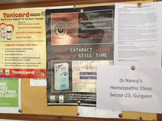 Dr Nancy's Homeopathic Clinic Notice Board, Sector-23, Gurgaon