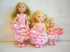 Boo Bear's Crochet Barbie Wedding - Flowergirls