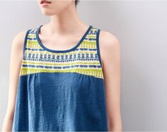 Toyouth Summer Women Fashion Printed 100% Cotton Race Back Sleeveless Bohemian Vest Tank Tops