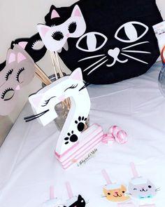 Kitten photo booth props Kitten party decor | Etsy Little Girl Birthday, Cat Birthday, 6th Birthday Parties, Kitten Party, Cat Party, Kitty Party Themes, Fiesta Decorations, Birthday Party Centerpieces, Birthday Numbers