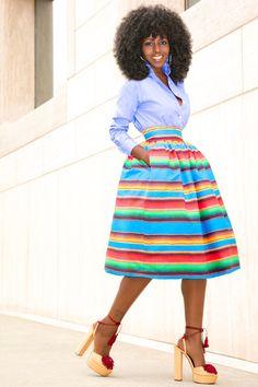 Oxford Boy Shirt + Color Striped Full Skirt                                                                                                                                                      More