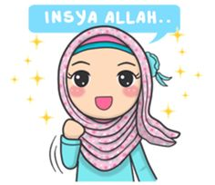 Bunga back again with new stickers that you can use everyday, let's use this stikers for you daily conversation Feeling Pictures, Islamic Messages, Islamic Quotes, Islamic Cartoon, Anime Muslim, Hijab Cartoon, Cute Cartoon Girl, Cute Love Memes, Bunny Art